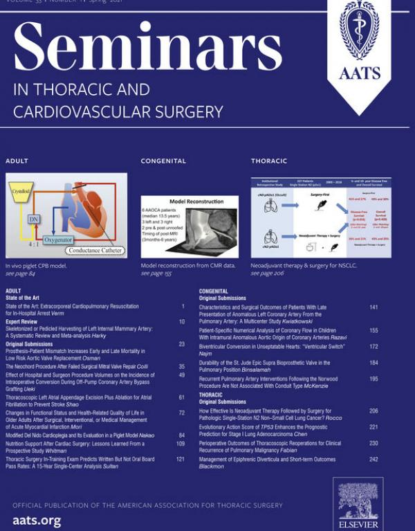Seminars in Thoracic & Cardiovascular Surgery